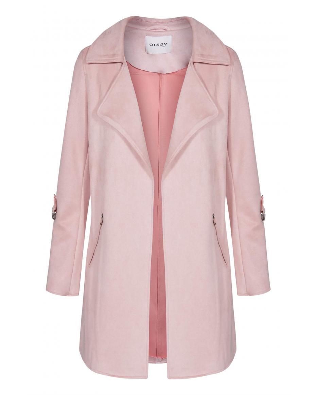 Orsay γυναικείο ημίπαλτο απο faux suede δέρμα - 845005-232000 - Ροζ ... a9368243030