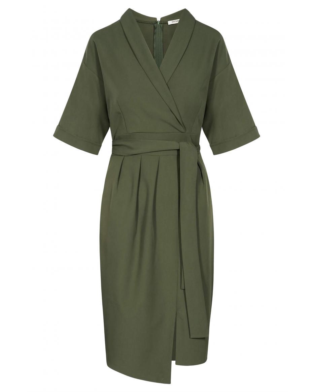 20361011ccbc Orsay γυναικείο φόρεμα με wrap σχέδιο - 410161-880000 - Χακί ...