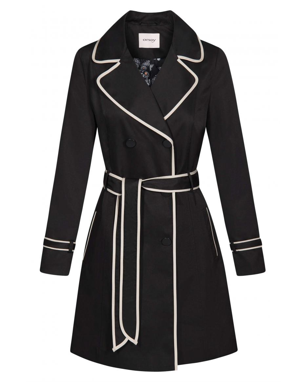 92bc00ac4c21 Orsay γυναικεία καπαρτίνα με διακοσμητικό ρέλι - 841047-660000 - Μαύρο ...