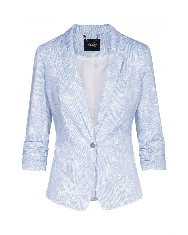 fc658050f8f9 Orsay γυναικείο σακάκι ριγέ με print - 480189-506000 - Γαλάζιο ...