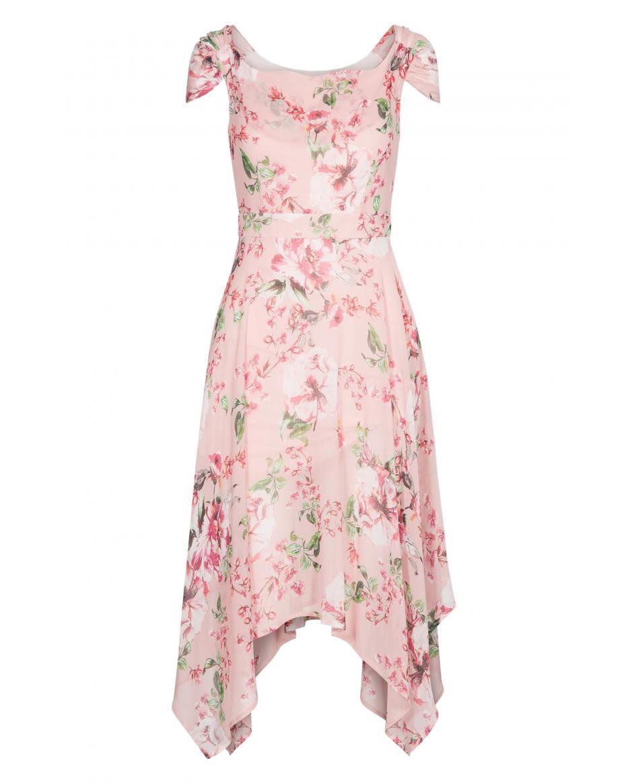 7327b8dd0d8 Orsay γυναικείο φόρεμα εμπριμέ ασύμμετρο - 471380-352000 - Ροζ ...