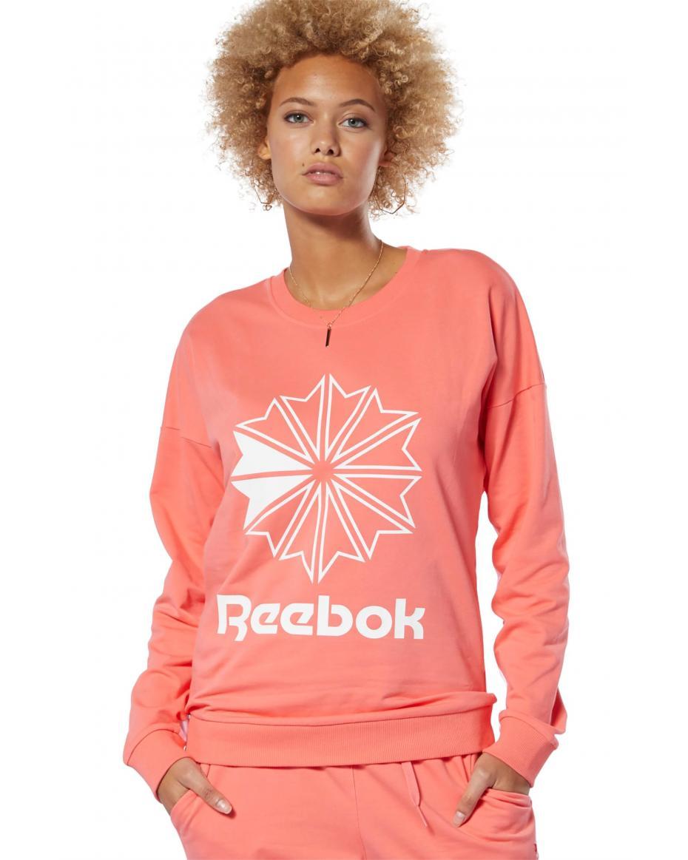 3b5173397830 Reebok γυναικείο φούτερ με στρογγυλή λαιμόκοψη και στάμπα French Terry Big  Logo - DT7245 - Ροζ ...