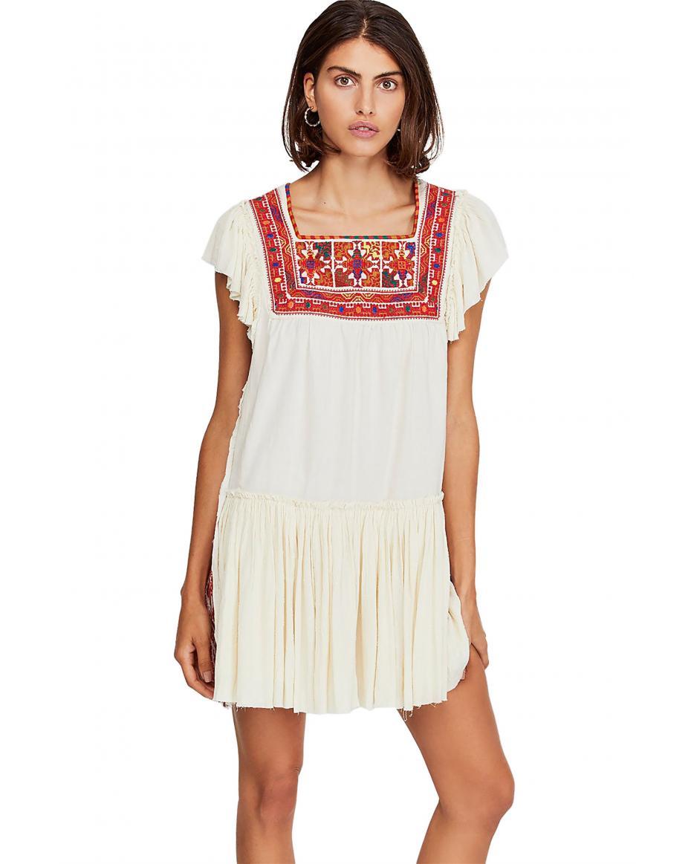 094b922d740c Free People γυναικείο φόρεμα με κέντημα Day Glow - OB921658 - Εκρού ...