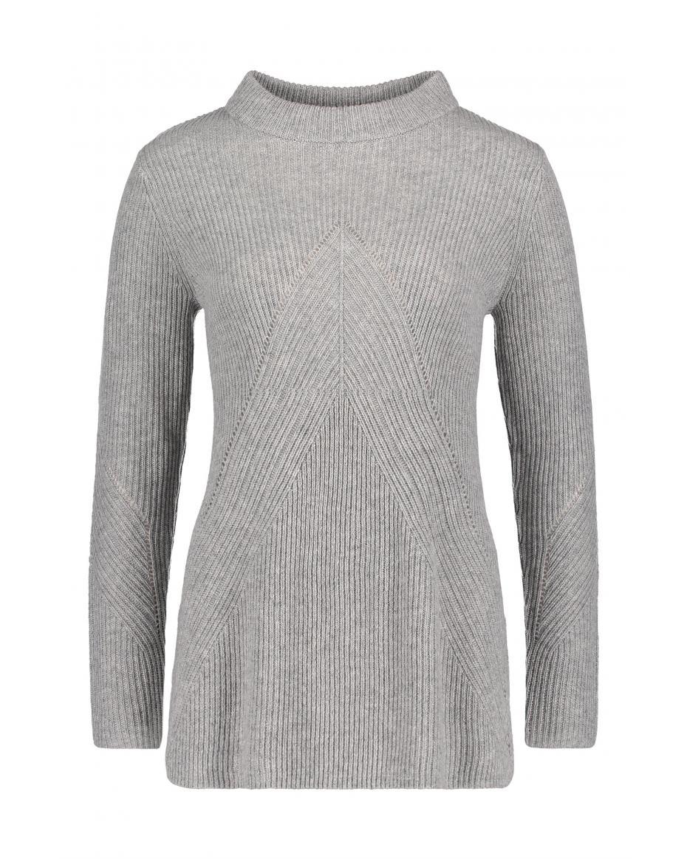 52a5b140539c ΒETTY   CO γυναικεία πλεκτή μπλούζα - 0199 0872 - Γκρι ...