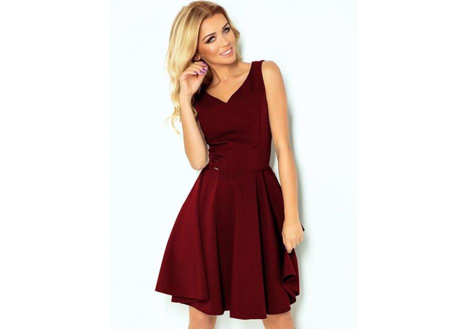 Bordeaux midi φόρεμα!