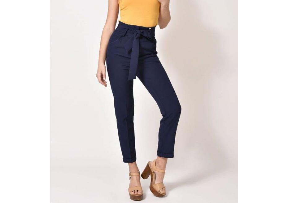 Μπλε ψηλόμεσο παντελόνι!