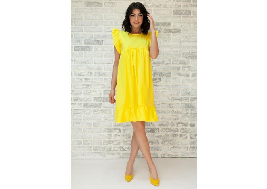 Κίτρινο midi φόρεμα!
