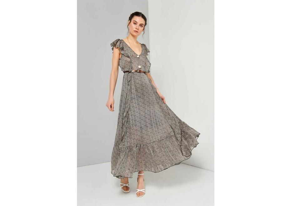 Animal print maxi φόρεμα!