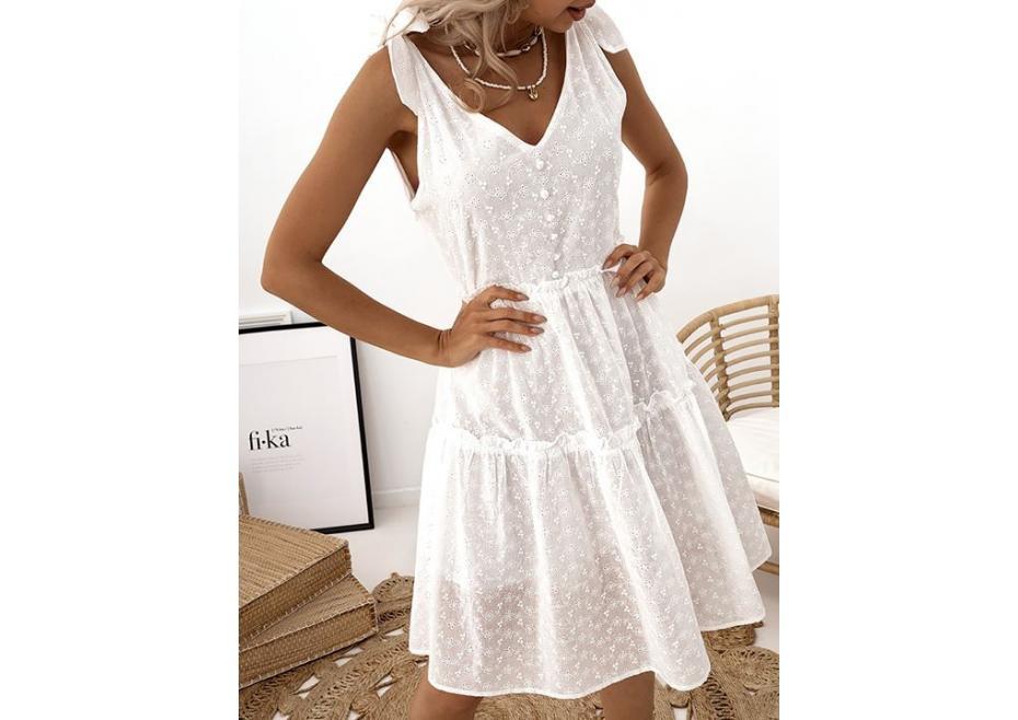 Λευκό κιπούρ φόρεμα!