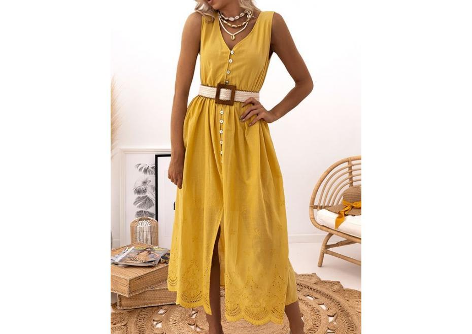 Βαμβακερό midi φόρεμα!