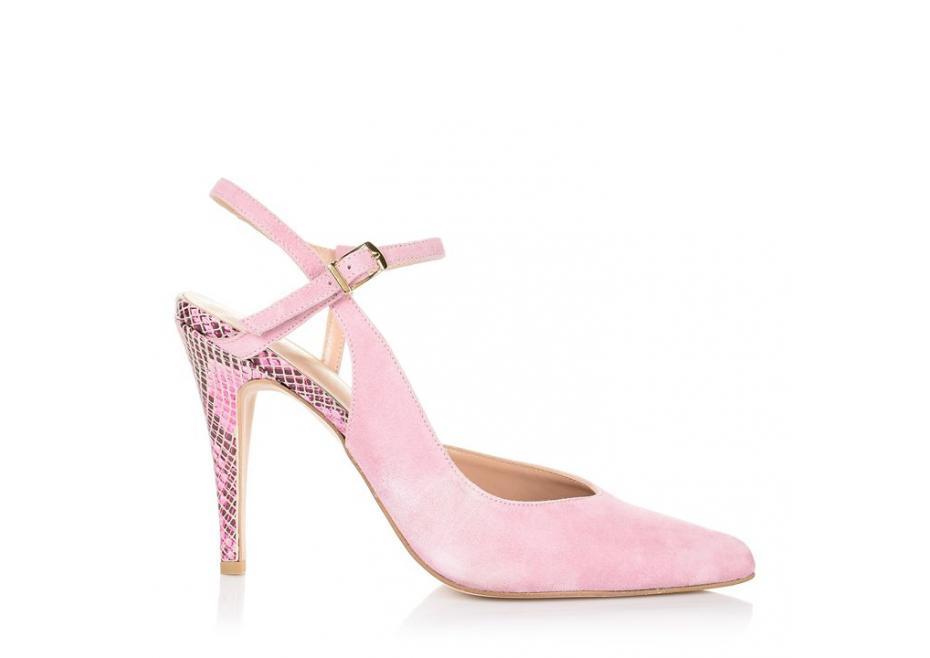 Ροζ δερμάτινη γόβα!