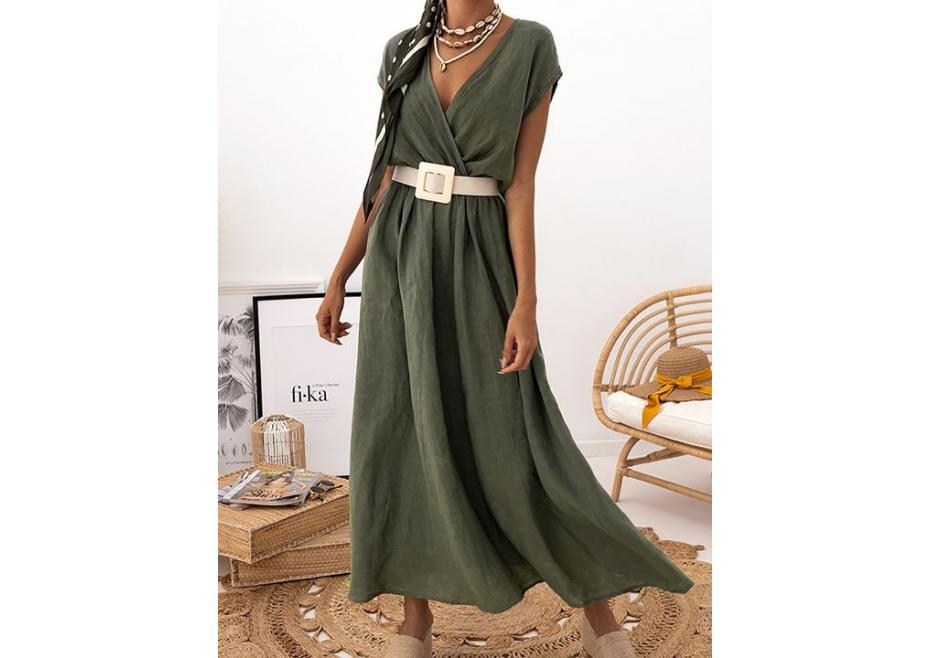 Λινό maxi φόρεμα!