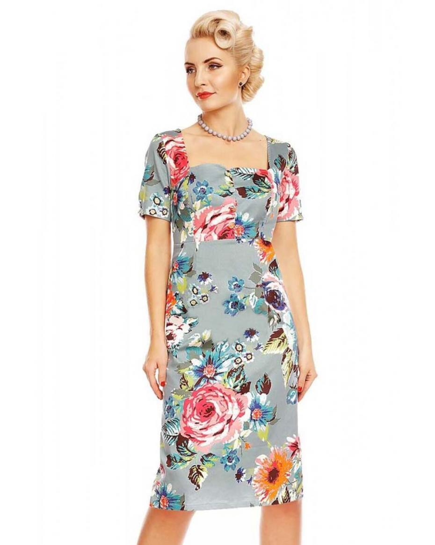 8ce4b2efc5f6 vintage φόρεμα Daisy floral pencil ...