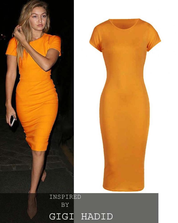 75b011c172a1 basic allday viscose φόρεμα σε κίτρινο mustard ...